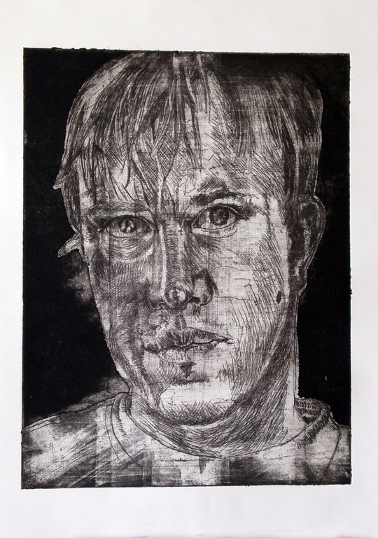 Etching Self-Portrait